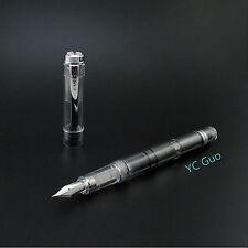 2017 Model Wing Sung 698 Transparent Piston Fountain Pen Extra Fine Nib