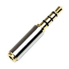 Golden 3.5mm Male to 2.5mm Female Plug Stereo Audio Earphone Jack Adapter TS