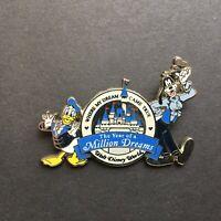 Disney World Year Of A Million Dreams Lanyard Mickey Minnie Pluto Donald Pins