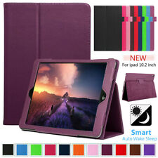 """For Apple iPad 8th Generation 10.2"""" (2020) Folio Leather Flip Stand Case Cover"""