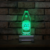 VB Bottle LED Sign,Edgelit,Bar,Mancave,Remote,Light,Gift