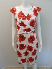 ANTHEA CRAWFORD FLORAL PRINT OCCASIONS DRESS SIZE 10       (#Y347)