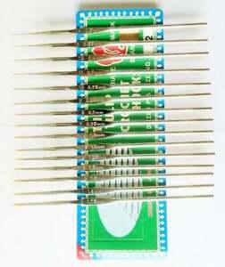 Steel Crochet Hooks 14 TULIPS size 0/1.75mm -size 14/0.50mm