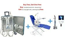 Portable Dental Unit 4H+Dental Chair with LED lamp&Water Supply+ 5W Curing Light