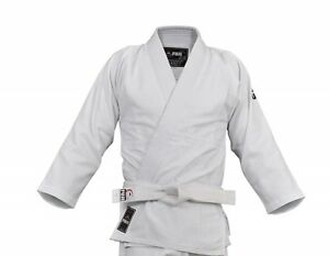 Fuji Judo Top with Belt, White, Size 4