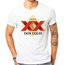 Dos Equis Cerveza Lager 20th century Mexican Beer Men's White T Shirt Size S-3XL