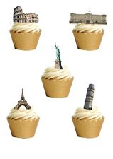 11 STAND UP Edible Famous Landmarks London Paris Egypt Wafer Paper Cake Toppers