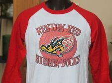 Champion Raglan Long Sleeves Baseball T-Shirt Renton Red Rubber Ducks Men sz Lrg