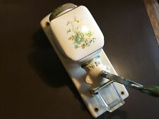 More details for vintage dutch pe de wall mounted coffee grinder rare pattern