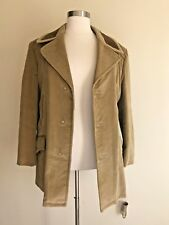 Vtg Sears Mens Country Coat Tan Corduroy Button Front Lined Coat Size 44 Reg.