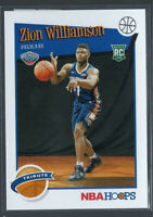 ZION WILLIAMSON 2019-20 PANINI HOOPS TRIBUTE ROOKIE RC #296 PELICANS
