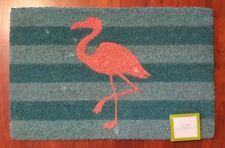 Flamingo Coir Welcome Mat Doormat Front Entry Door Rug Tropical Coastal NEW