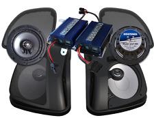 Hogtunes Dual Amplifier 400 Watt Speaker Kit For Harley Road Glide 2015-2017