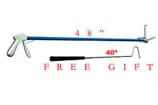 """48""""inch S.S-Snake-Handle-Tongs-Snake-Catch-Snake-Catcher-Stick-With FREE GIFT"""
