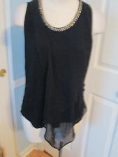 bebe top with chain necklace l    #448