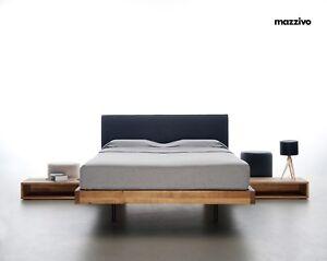 Bett SMOOTH 120x200 Design modern zeitlos schlicht Holz Eiche Erle Esche Buche