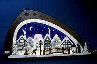 LED Schwibbogen modern Winter in der Altstadt Neu 2017 Lichterbogen Erzgebirge