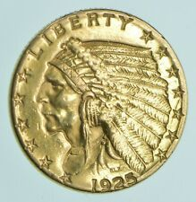 $2.50 United States 90% US Gold Coin - 1925-D Indian - No Reserve *924