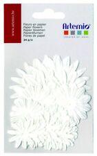 Papierblumen 24 Stück weiss Papierblüten Blumen Paper flowers Artemio 11006792