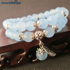 Tibetan bracelet Blue Crystal Round Beads Charm lovers bohemian Yoga metitation