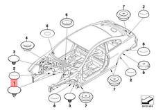 Genuine BMW E34 E36 E39 E60 Sealing Blind Plug D=18MM x5 pcs OEM 51718137323