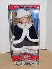 "13"" Fine Bisque Doll  Winter CHRISTMAS Faux Fur Dan Dee Collectors Choice"