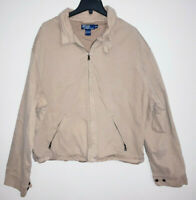 Mens Polo Ralph Lauren Khaki Beige Jacket Coat Full Zip Size 2XL