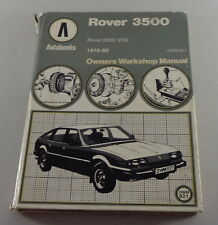 Manuale di Riparazione Rover SD1 3500 + V8S Anno Costruzione 1976-1980