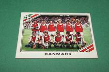 N°347 EQUIPE TEAM DANMARK DANEMARK PANINI FOOTBALL COUPE MONDE 1986 MEXICO WM