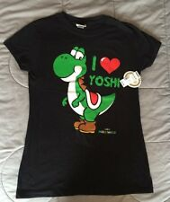 CHANGES Nitendo I LOVE YOSHI Super Mario World YOUTH T-SHIRT Sz XL Cotton BLACK