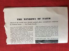 m2q ephemera 1950s article british stained glass manufacture james powell & sons
