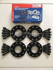 4 x 10 mm h&r Noir Roue Alliage Entretoises Noir Boulons-BMW M5 F10, F80 M3, F82 M4