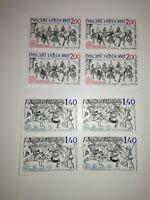 superbe lot 1 blocs de 4  europa 1981 andorre xx cote 18 euros bord de feuille