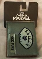 Bioworld Captain Marvel Agents Of Shield Nick Fury Bi Fold Wallet New