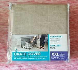 You & Me Crate Cover For Extra Extra Large (XXL) Crates Beige