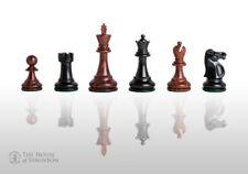 """Reykjavik Elite Chess Pieces - 3.75"""" King - Golden Rosewood & Ebonized Boxwood"""