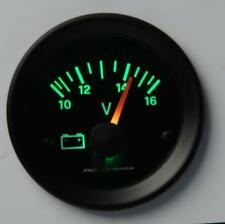 Manometro Strumento Road Italia Retroilluminato Voltmetro 10-16 Volt Verde
