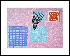 Jonathan Lasker Loves Rhetoric Poster Kunstdruck mit Alu Rahmen in 24x30cm