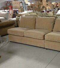 Pottery Barn Pearce Couch Sofa Sectional Oat Everyday Velvet Armless Loveseat
