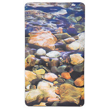 "Non Slip Bath Tub Mat 16""x27"" Brook Fabric Polyester PVC Printed"