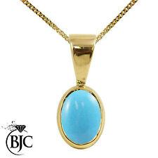 Turquoise Yellow Gold Fine Necklaces & Pendants
