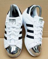 ADIDAS SUPERSTAR 80's LIMITED EDITION METAL TOE BLACK AND WHITE IN SIZE 5 UK