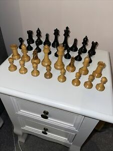 Antique BCC Jaques Staunton Style Weighted Chess Set 3.25 Inch King