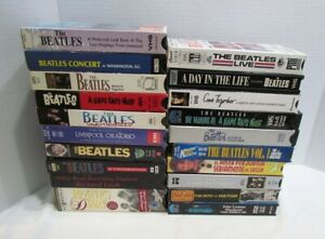 THE BEATLES BIG LOT 20 VHS TAPES HARD DAY'S NIGHT READY STEADY GO RICHARD LUSH +