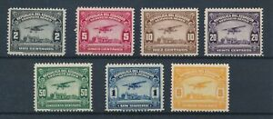 [36105] Ecuador 1929 Good airmail lot Very Fine MH stamps