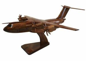 Airbus A400M Atlas RAF Strategic/Tactical Airlift Aircraft Wooden Desktop Model.