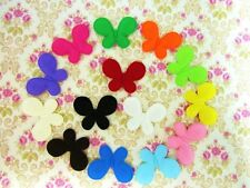 "98 Solid Felt 1.75"" Butterfly Applique/Basic/Padded/14 Colors Sampler H213-Mix"