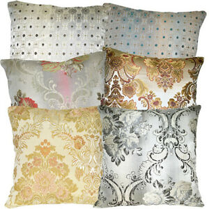 (Va) European Damask Thick Cotton Blend Upholstery Cushion Cover/Pillow Case