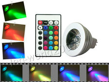 5x MR16 5W RGB Flash Multicolor LED Light Bulb Lamp 12V + 1x Remote Controller