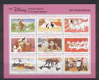 Grenada Grenadines 1988 Disney 101 Dalmations/Dogs/Film/Cinema 9v sht ref:s5760